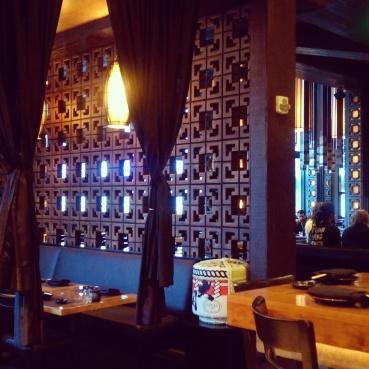 Dining area at Sushi Roku.
