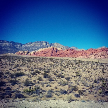 A view of the Calico Hills in Red Rock Canyon.