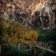 In Red Rock Canyon.