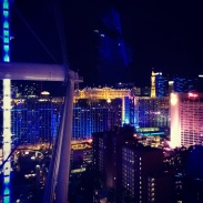 About half way up on the High Roller.