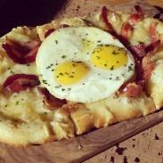 The Carbonara Pizza at Giada.