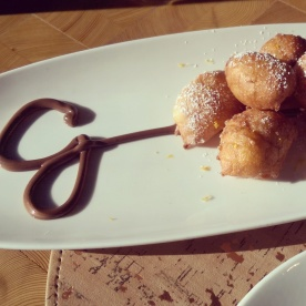 The zeppoles at Giada.