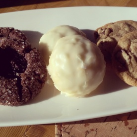 The assorted cookie platter at Giada.