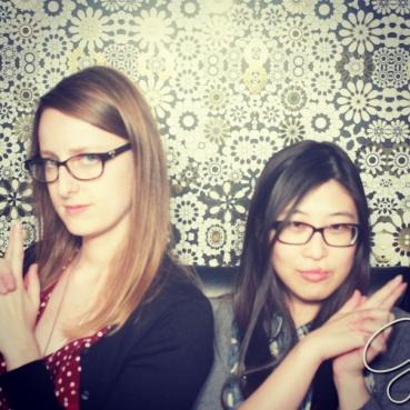 Posing in the Giada photo booth.