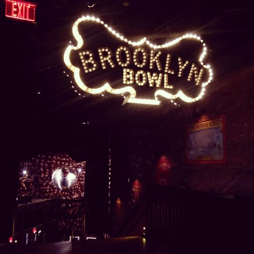 What you see when you enter Brooklyn Bowl.