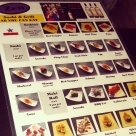 The picture menu at Zen.
