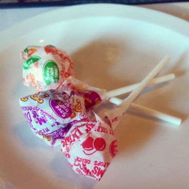 Lollipops with the bill.