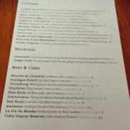 The original drink menu.
