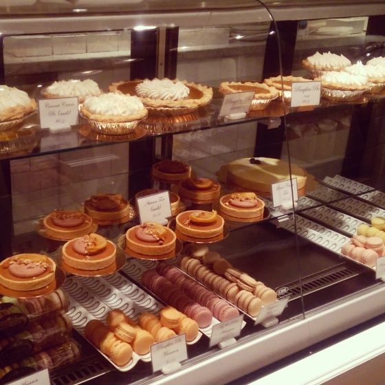 One of the dessert cases at Duchess.