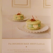 Posters in the bakery advertising their new pastry cookbook. The pictures are gorgeous!