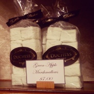 Fresh made packages of marshmallows.