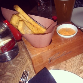 An order of the Chickpea Fries as our appetizer.
