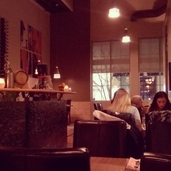 The interior of Cibo Bistro.
