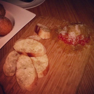 The amazing Salumi and crostini platter.