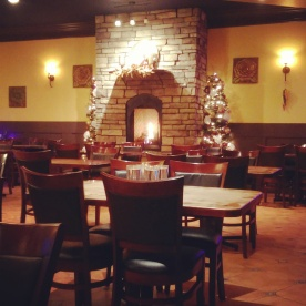 The interior of the restaurant.