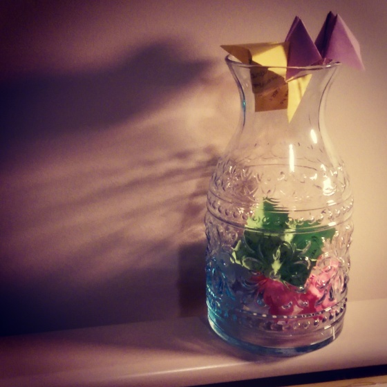 A joy jar that holds all of my wonderful memories until I shake them out come New Year's Eve 2015 and read them one by one...I think I need a bigger one!
