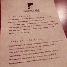 The dessert menu!