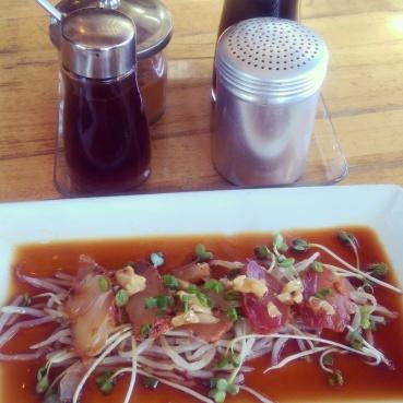 Underbelly's albacore tuna tataki