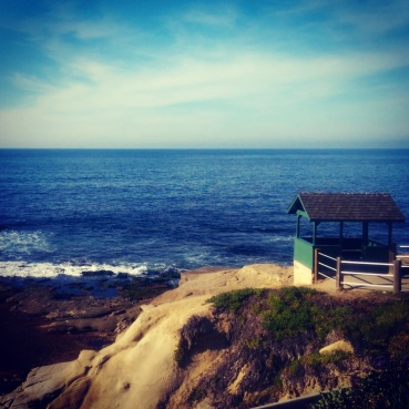 A view from the top of La Jolla cove.