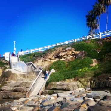 This is your obstacle to get down and up from the beach.