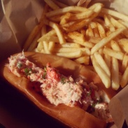 My lobster roll from The Albright.