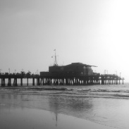 The end of the Santa Monica Pier.