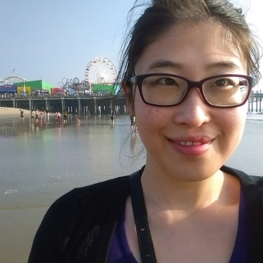 Selfie at the Santa Monica State Beach.
