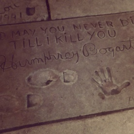 Humphrey Bogart's hand and footprints at the TCL Chinese Theater.