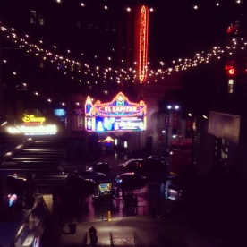 A view of Hollywood Boulevard from the second story of Hollywood & Highland Center.
