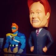Conan statues greet us as we enter the studio!