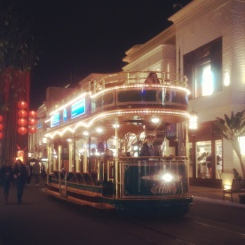 The trolley at The Grove.
