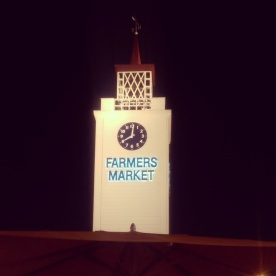 The Farmers Market (the original) clock tower.