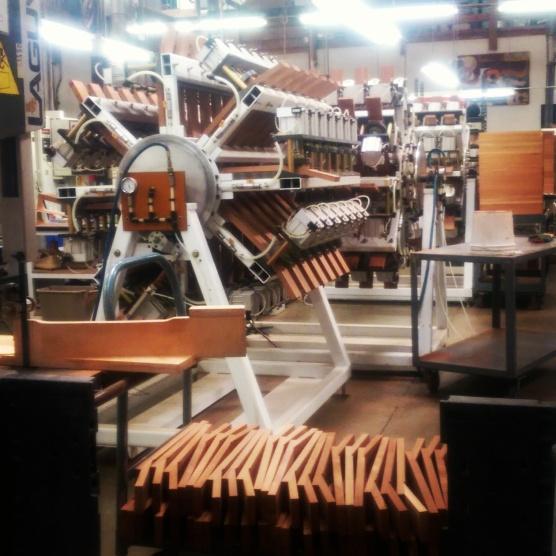Hundreds of guitar necks.