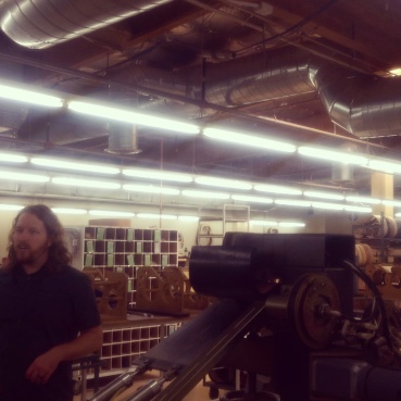 Our guide taking us through the Taylor Guitars factory.