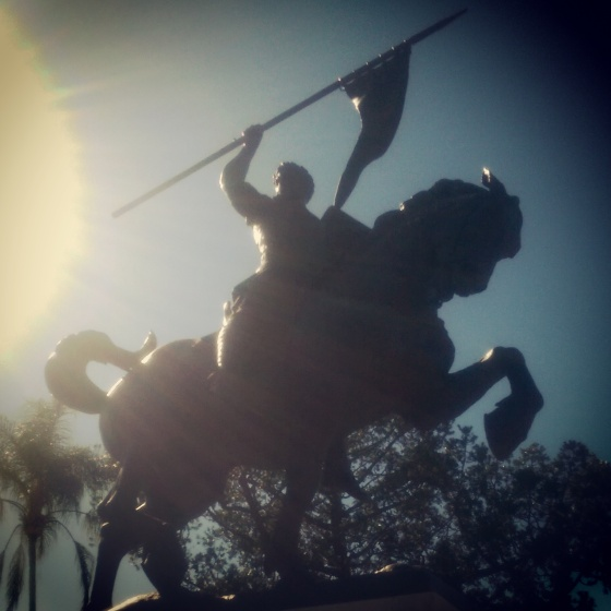 A statue across from The Prado at Balboa Park.