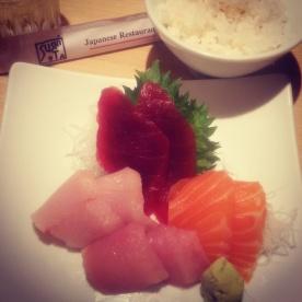 The assorted sashimi plate from Sushi Ota.