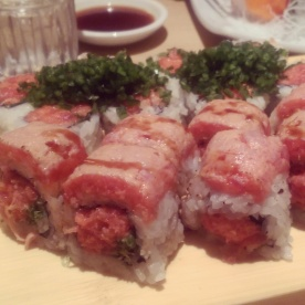 Double double tuna roll from Sushi Ota.