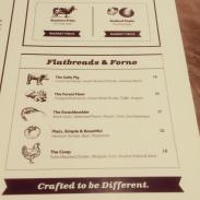 Part three of the food menu.