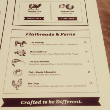 Part three of the food menu.