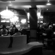 The lounge of the restaurant.