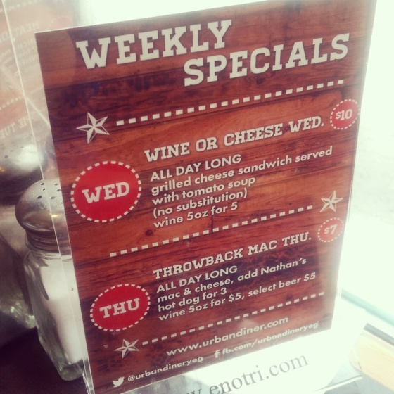 More weekly specials, including Throwback Thursday Mac & Cheese!