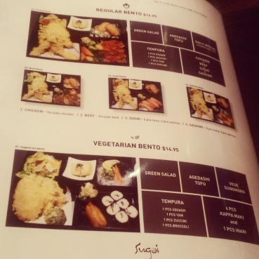 The bento boxes are listed on the last page of the menu.