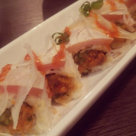 My friend's order of spicy tataki maki.