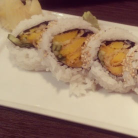 Another of my friend's choices: squash maki.