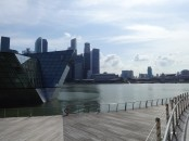 A promenade outside of the Shoppes at Marina Bay Sands