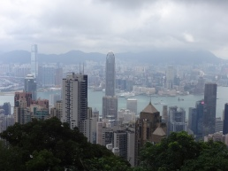 A view of Hong Kong from The Peak