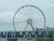 The Hong Kong Observation Wheel across from the IFC
