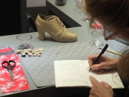 An interactive shoe exhibit inside Pacific Place