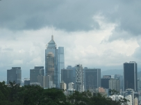 A view of the Hong Kong skyline from my grandma's condo