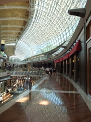 Inside the Shoppes at Marina Bay Sands